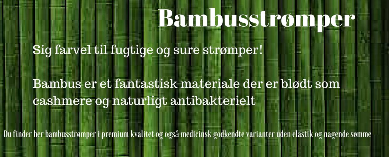 Bambus strømper - blødt som cashmere og naturligt antibakterielt