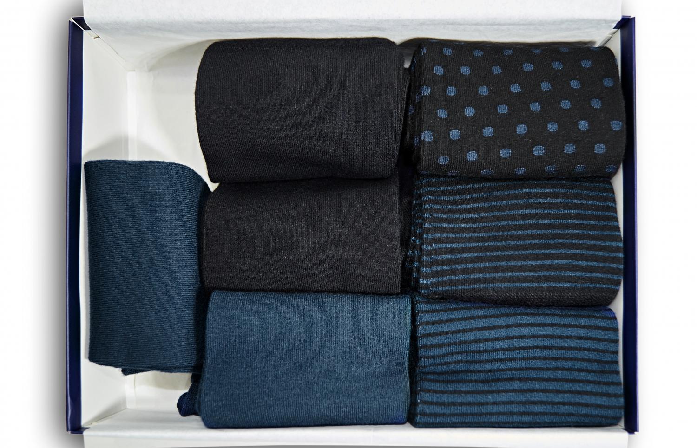 Fabriksnye MIDNIGHT BLUE old edition - BAMBUS STRØMPER - Strømpekompagniet.dk VT-03